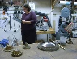 Sarah with lamp