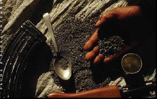 Coltan close up